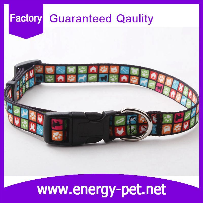 Customized Woven Pattern Cute Cat Collar Dog Collar