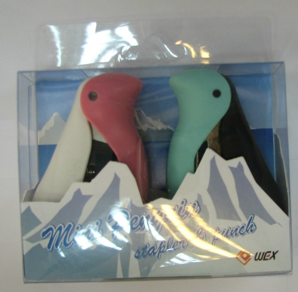 Animal / Penguin Stapler & Punch(16-1188-10 / 16-1198-10 / 16-1198-50 / 16-1214-10)