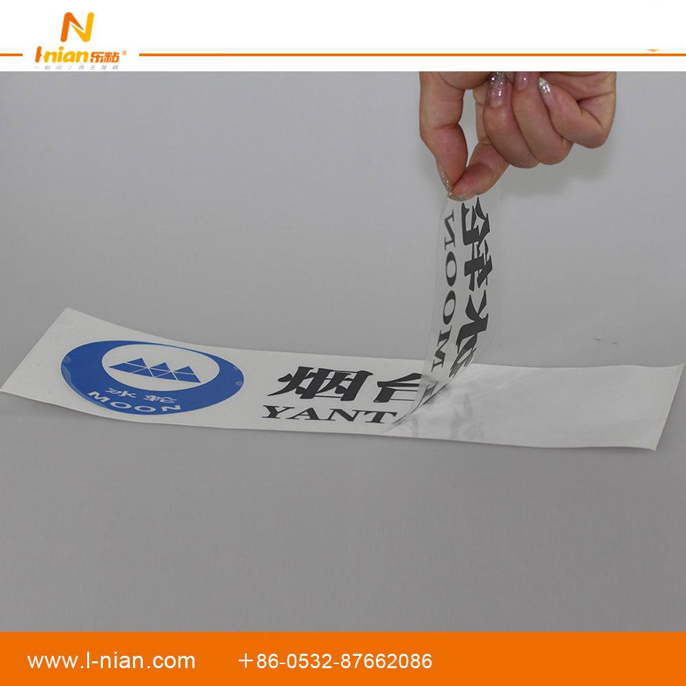 Custom Printing Transparent Company Brand Logo Hollowed Stickers