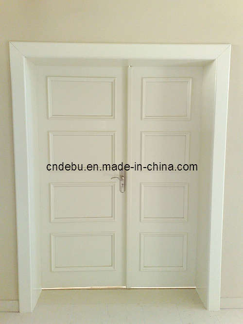 Exterior double white painting door d 028 china for White exterior double doors