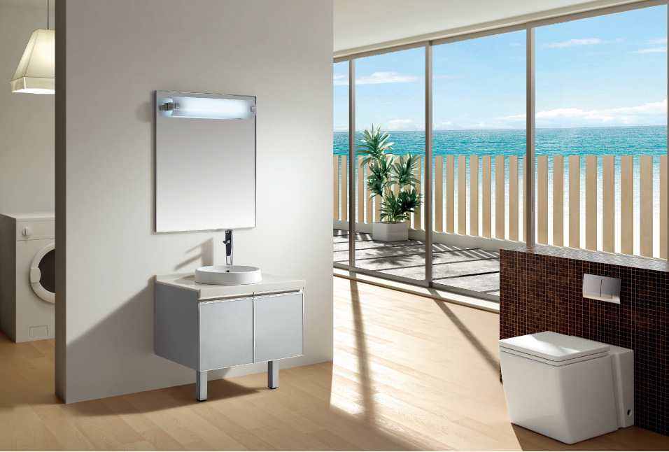 Muebles De Baño Toto:Gabinete de cuarto de baño con el lavabo de cerámica de Toto (S80S