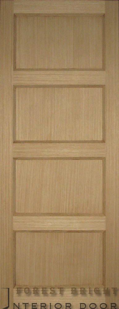 China 4 Panel Oak Wood Doors Interior Cd 0508 China