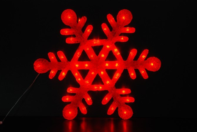 LED Christmas Decorating Large Motif Snowflake Light