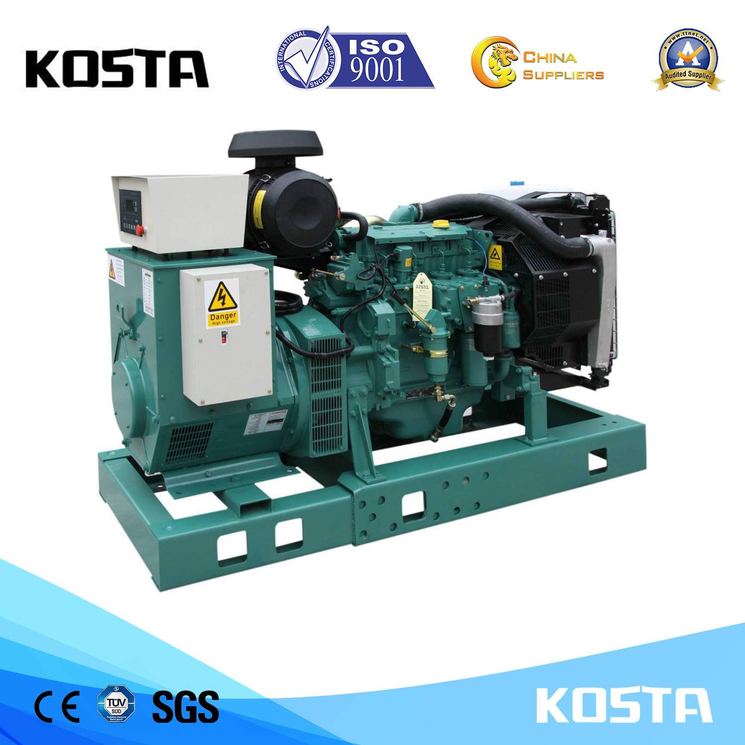 China Whole New Automatic Volvo 100kVA Open Type Diesel Generator