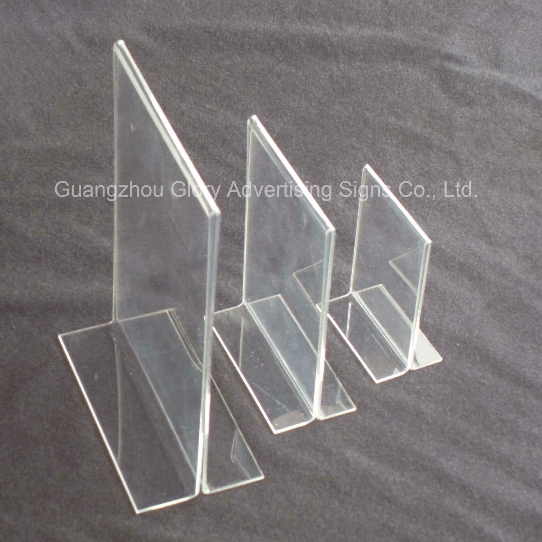 Plastic Acrylic Holder/Acrylic Brochure Holder/Acrylic Menu Holder