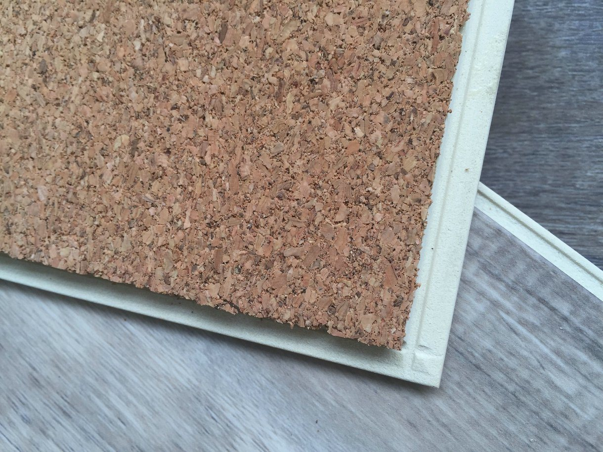 WPC Vinyl Flooring Tiles Planks with Soft Wood Underlay (super soundproof)