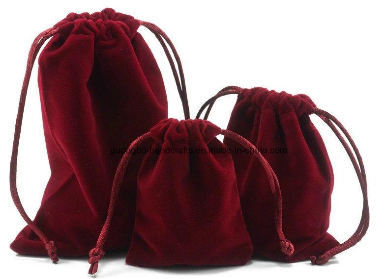 Custom Jewelry Pencil Mobile Phone Organza Velvet Drawstring Bag Pouches