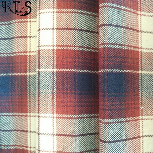 Cotton Flannel Woven Yarn Dyed Fabric for Garments Shirts/Dress Rls21-3FL