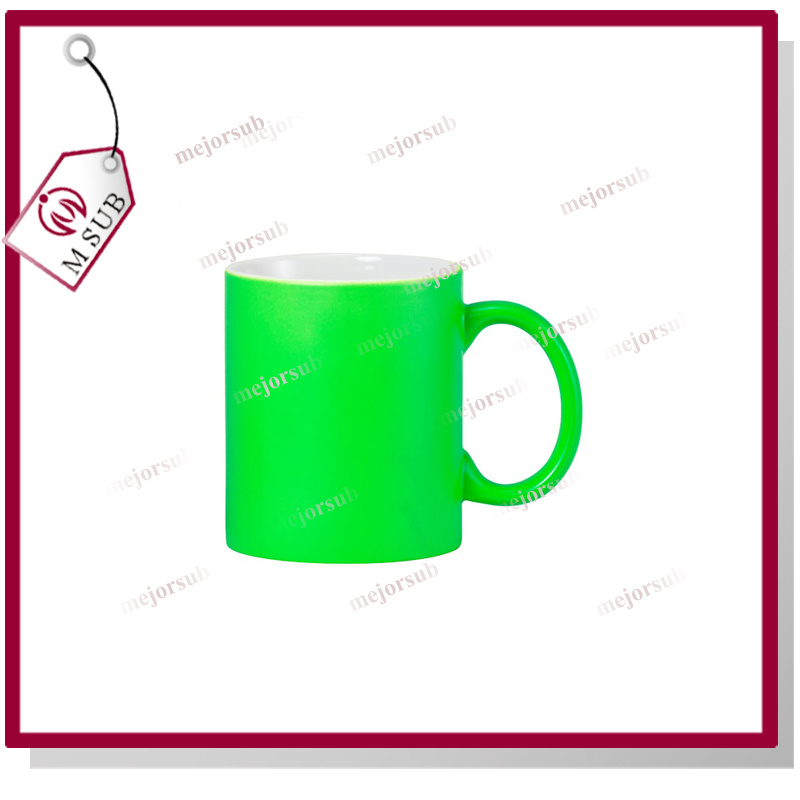 11oz Coated Mug with Fluoresecent Color by Mejorsub
