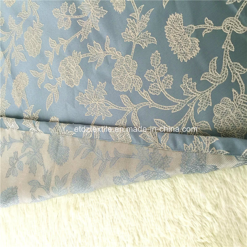 European Popular Flower Pattern Jacquard Curtain Fabric