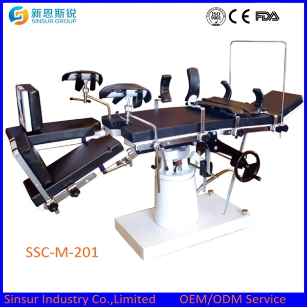 Hospital Surgical Equipment Radiolucent Manual Operating Table