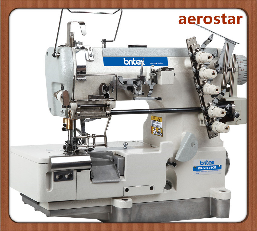 Br-500-05CB High Speed Flat-Bed Interlock for Loosening and Tightening Laces (with cut)
