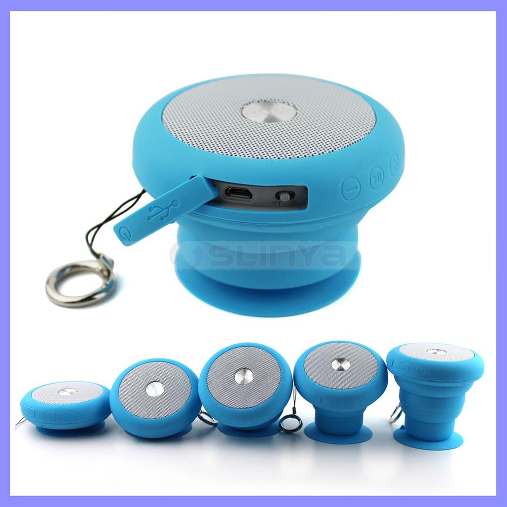 Colorful Unique Stretch Mini Outdoor Wireless Waterproof Speakers Bluetooth Flexable Shower Speaker