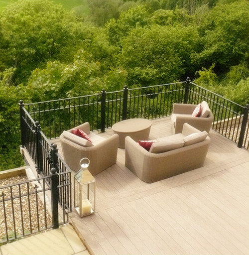 Engineered Natural Recycle Decking Terrace Floating WPC Wood Flooring