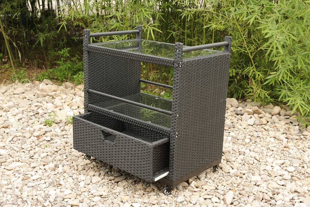 Rattan Wicker Hotel Garden Patio Outdoor Furniture Wine Trolley (FS-5550)
