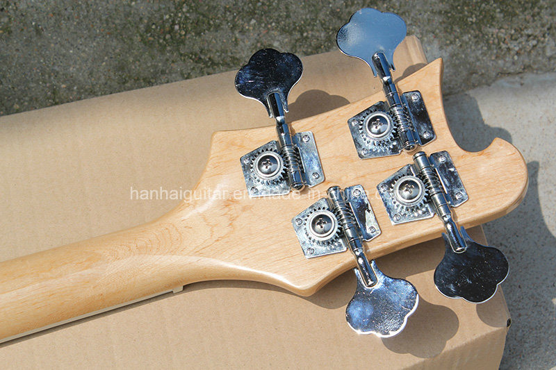 Hanhai Music/Original Wood Color Ricken Style Electric Bass Guitar