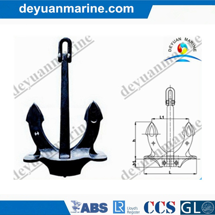 U. S. N Stockless Anchor