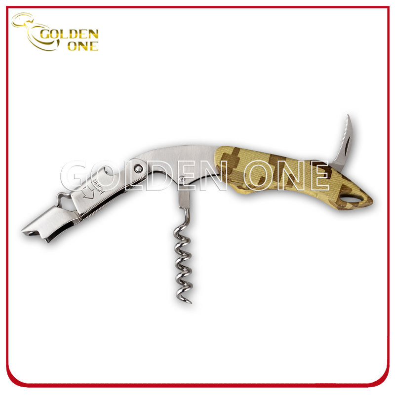 Multi- Color Different Pattern Stainless Steel Pulltap Wine Opener