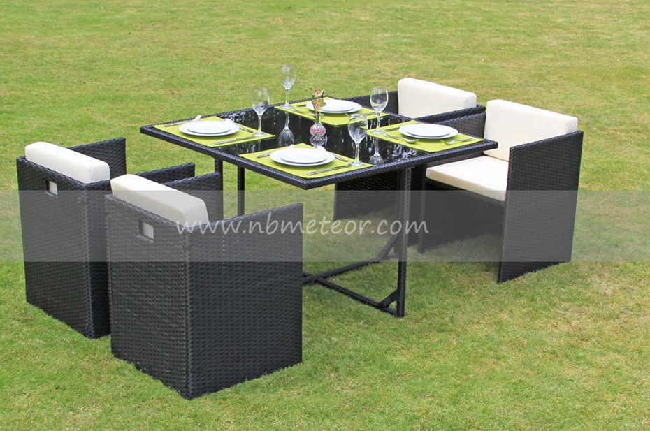 Wicker Rattan Garden Furniture Dining Set for Outdoor (MTC-016-KD)