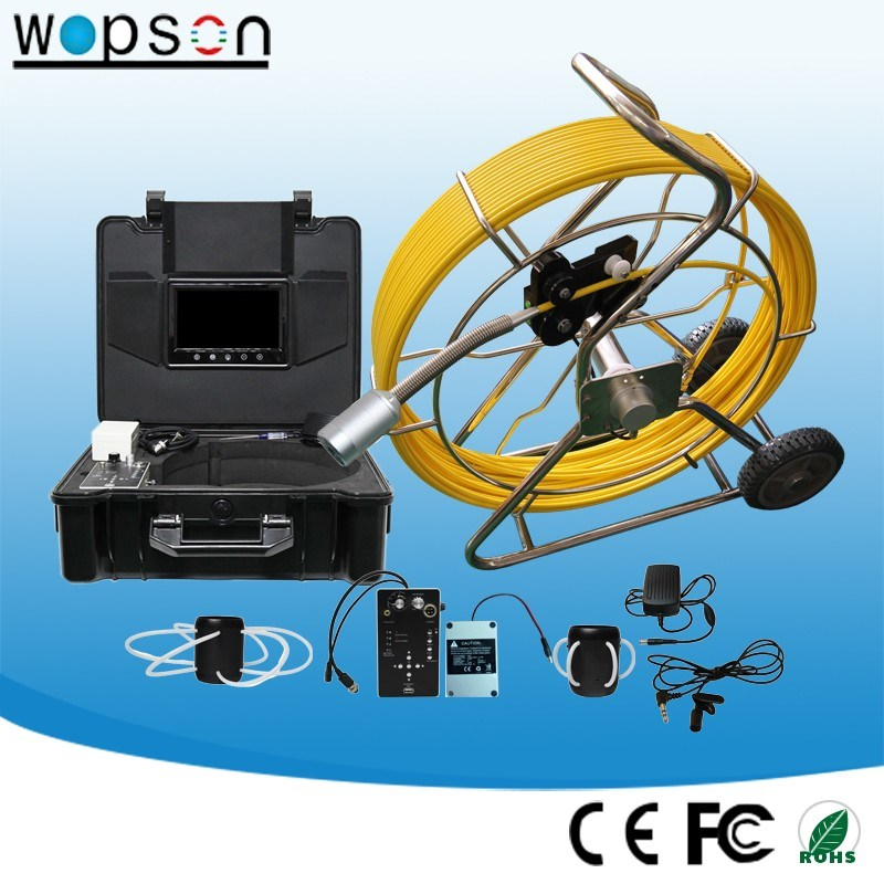 Wopson Self Level Waterproof Sewer Pipe Inspection Videoscope with CCTV Camera