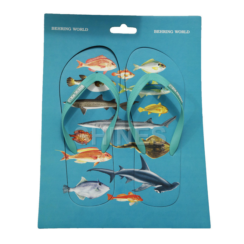 Fish Print Chopping Board Flip Flop Slippers