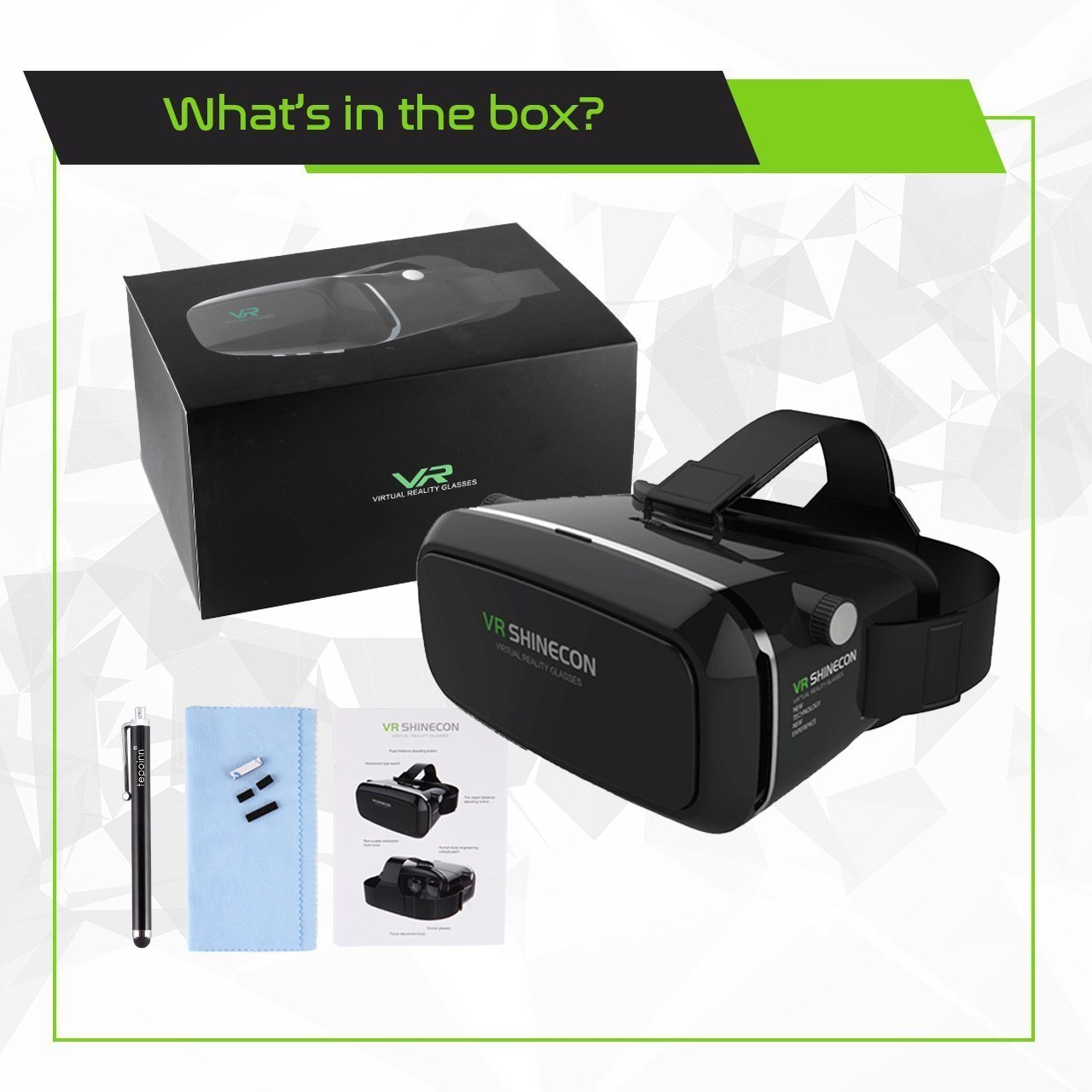 3D Virtual Reality Glasses Head Headset Vr Box 3D Glasses with Bluetooth Controller
