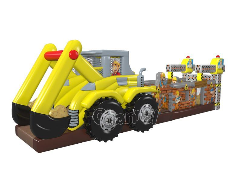 Excavator Inflatable Obstacle Course Chob1132