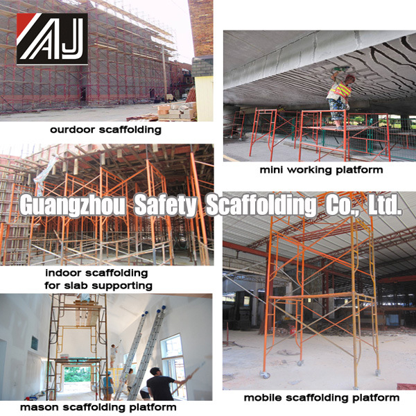 Light Duty Steel Frame System Scaffolding for Construction, Guangzhou Manufacturer (HF1930)