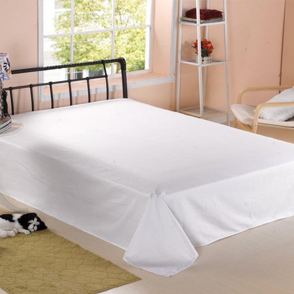 Queen Size Flat Sheet Hotel Linen Bed Sheet