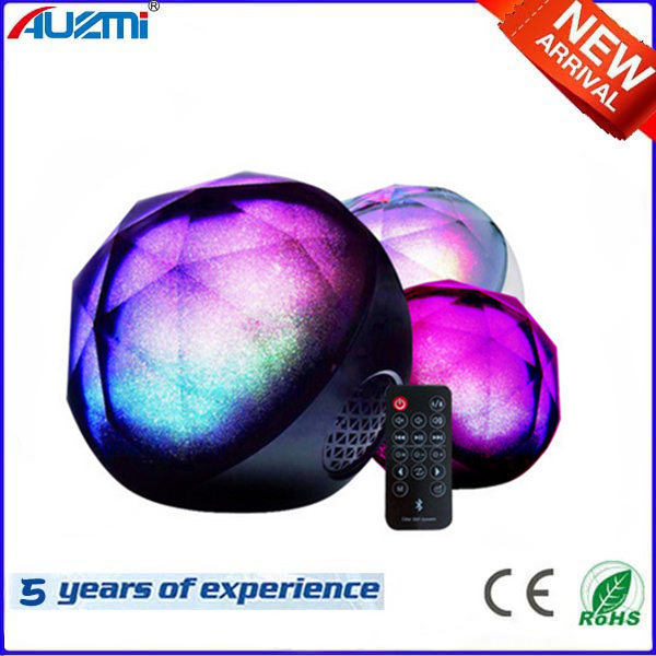 Wireless LED Bluetooth Speaker Crystal Ball Speaker with Colorful Light