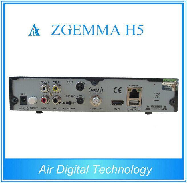 DVB-S2 + DVB-T2/C HD Combo Receiver Zgemma H5 Supports H. 265 Hevc