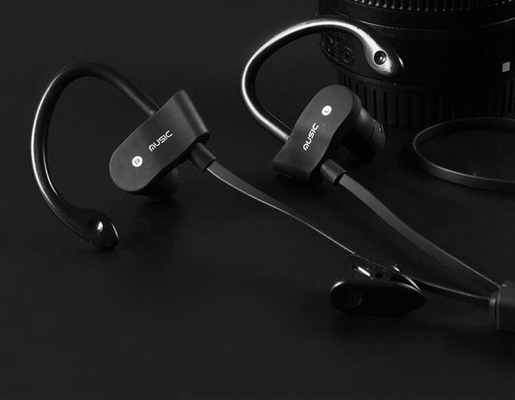 Bluetooth Headphones, Bluetooth Headset Noise Cancelling Headphones with Microphone Running, Sports, Gym Sweatproof Wireless Earphones