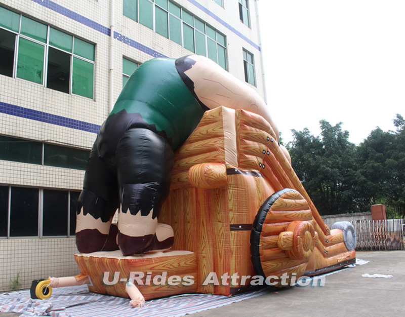 AXE Man Inflatable slide with all digital printing