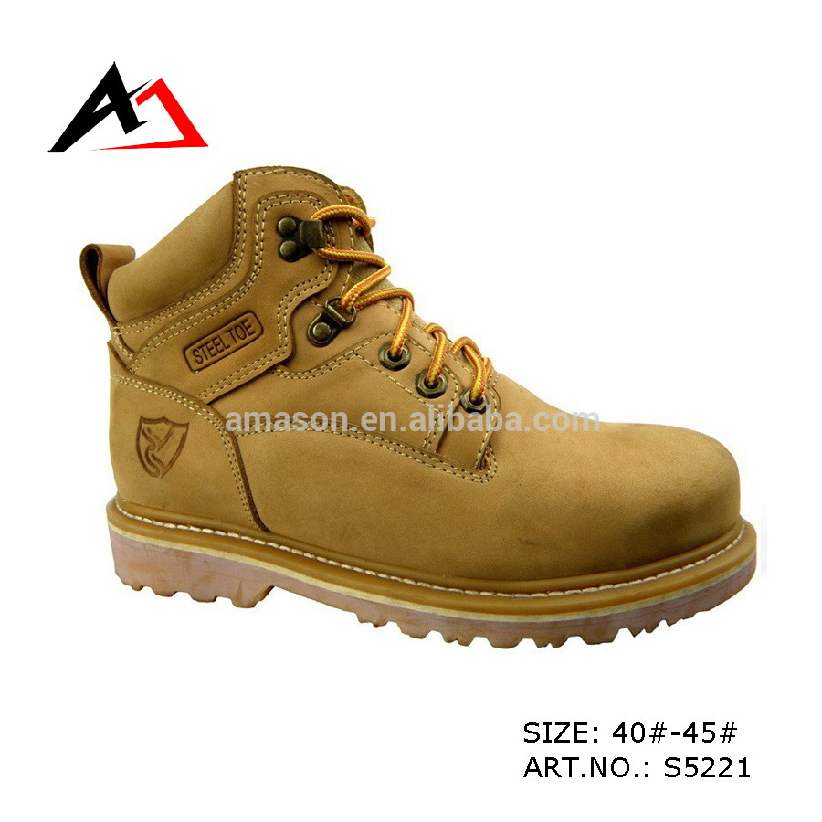 Leather Safety Shoes Rubber Boots for Men Shoe (AKS5221)