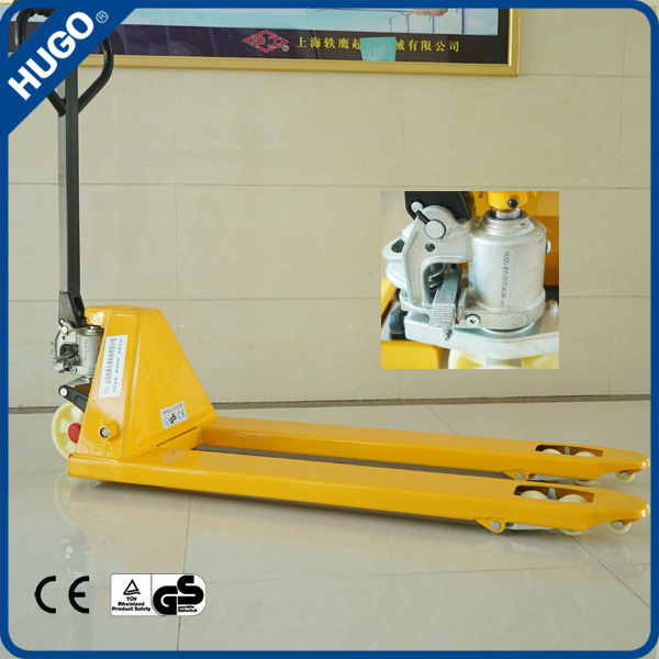 Wholesale 3000kg PU Roller Hand Pallet Truck with Competitive Price
