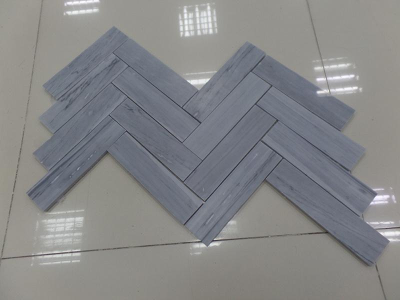 Natural White / Grey/Black Marble Mosaic Tiles for Kitchen / Bathroom Flooring