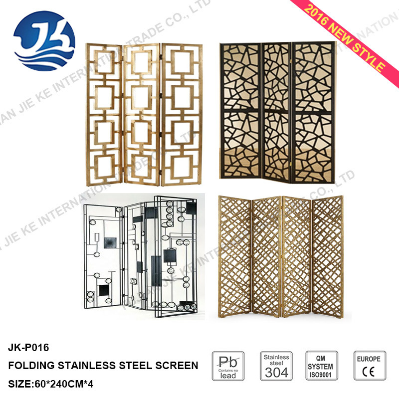 Factory Supply 2016 New Design Stainless Steel Folding Screen