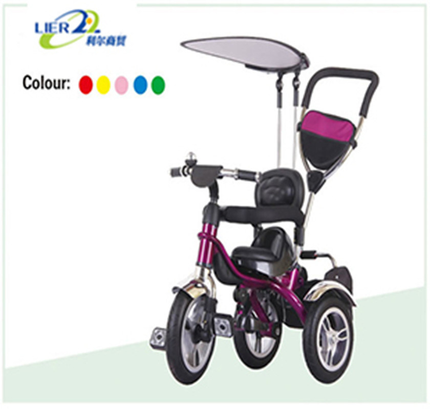 Kids Tricycle Pink Metal EVA Air Babytricycle Cheap Child Tricycle