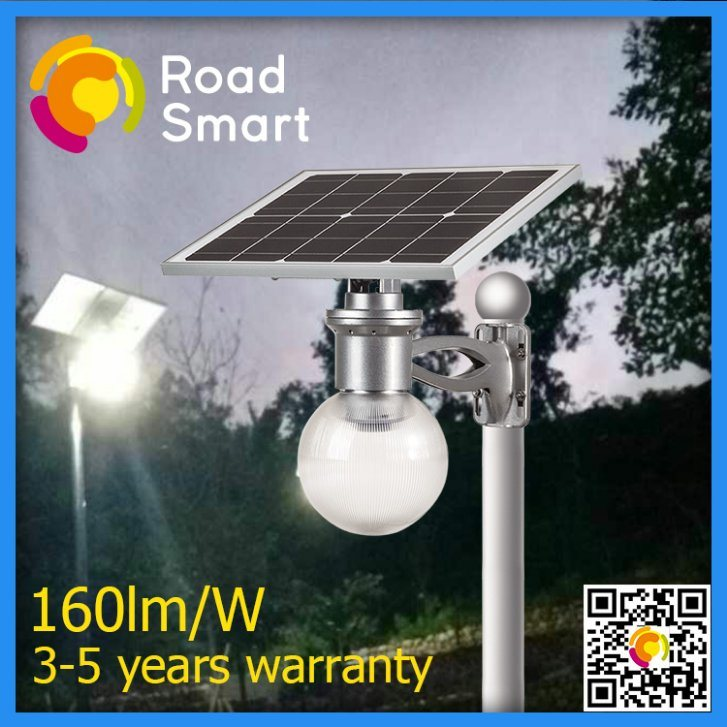 LED Outdoor Solar Powered Garden Street Lighting with Rotating Panel