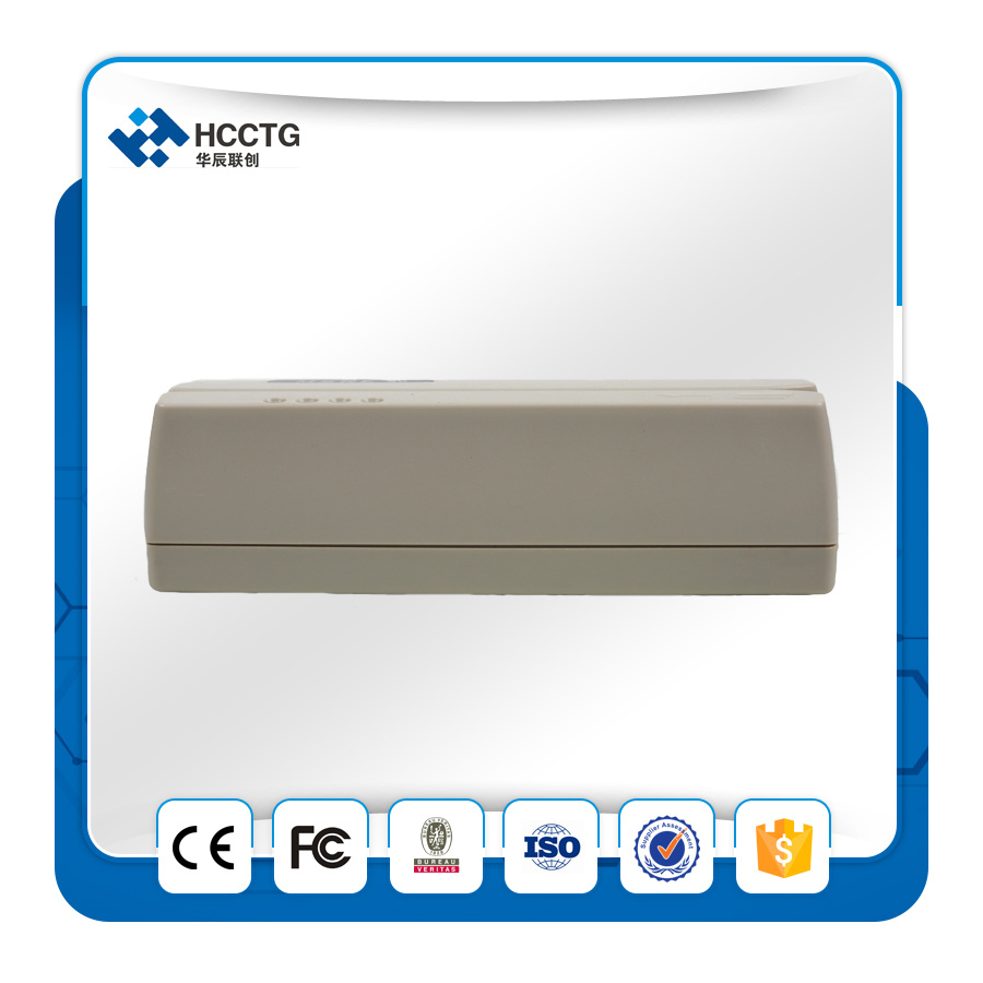 RS232 Interface Mini Msr206 Magnetic Stripe Card Reader Writer (HCC206R)
