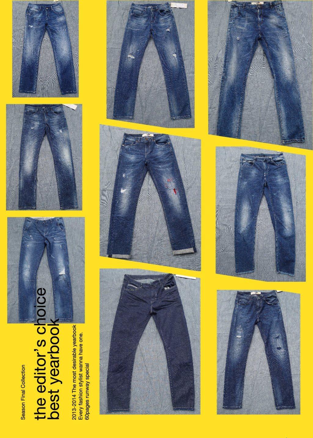 14.6oz Men Straight Jeans (HS-776897A)