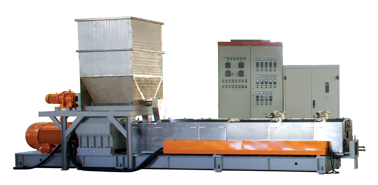 Twin Screw Extruder, 600rpm, High Output: 550-1000kgs/H, Motor: 110-132kw Plastic Extruder.