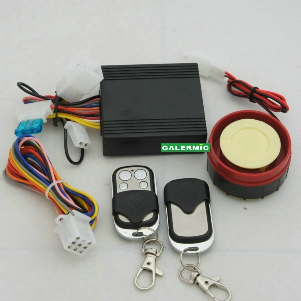 One Way Motorcycle Alarm System with Remote Engine Start