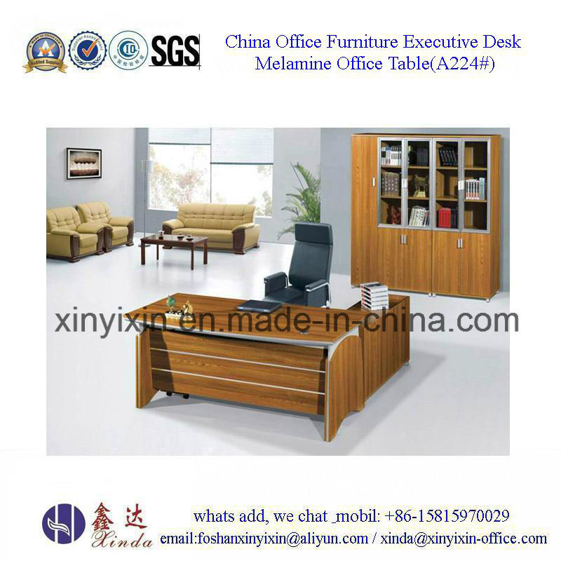 China Wooden Furniture Modern Office Table with L-Shape (A224#)