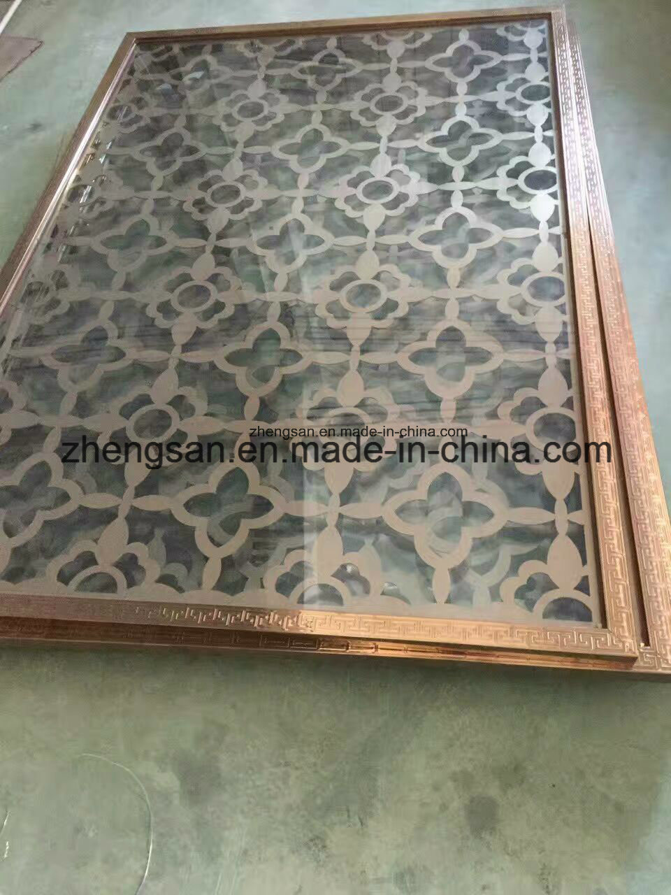 Rose Golden Color Decorarive Laser Cut Metal Screen