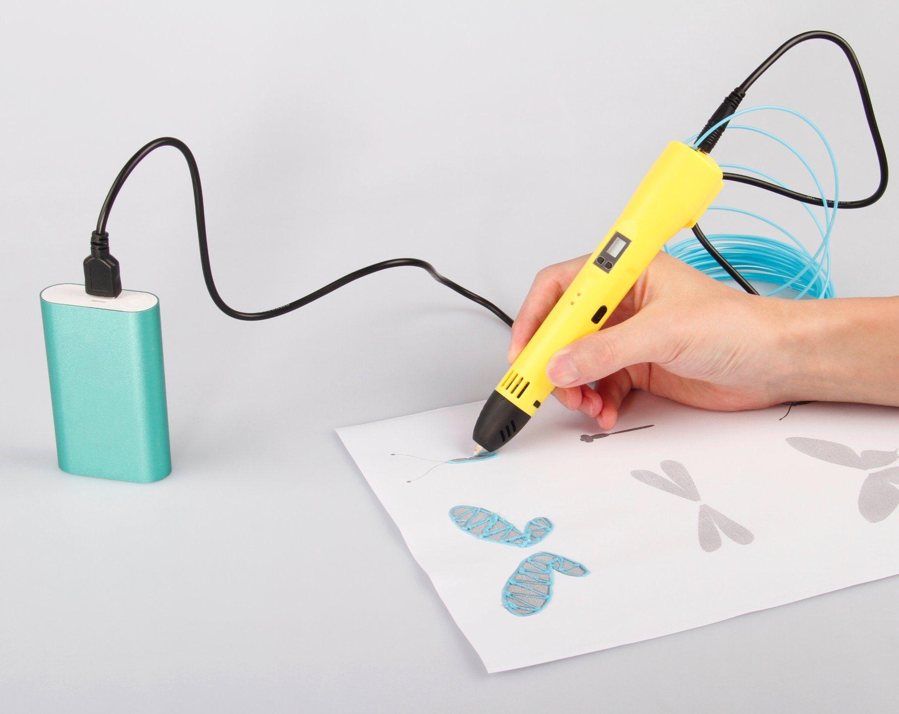 2016 Newest DIY Drawing Printing 3D Pens USB Port New Arrival 3D Printer Pen for Children