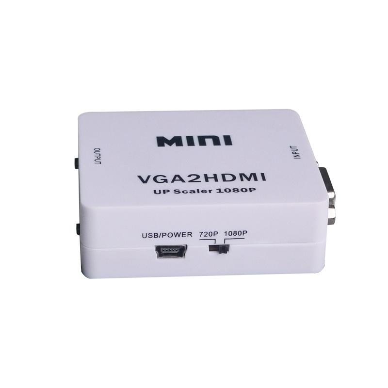 Mini VGA to HDMI Upscaler 1080P