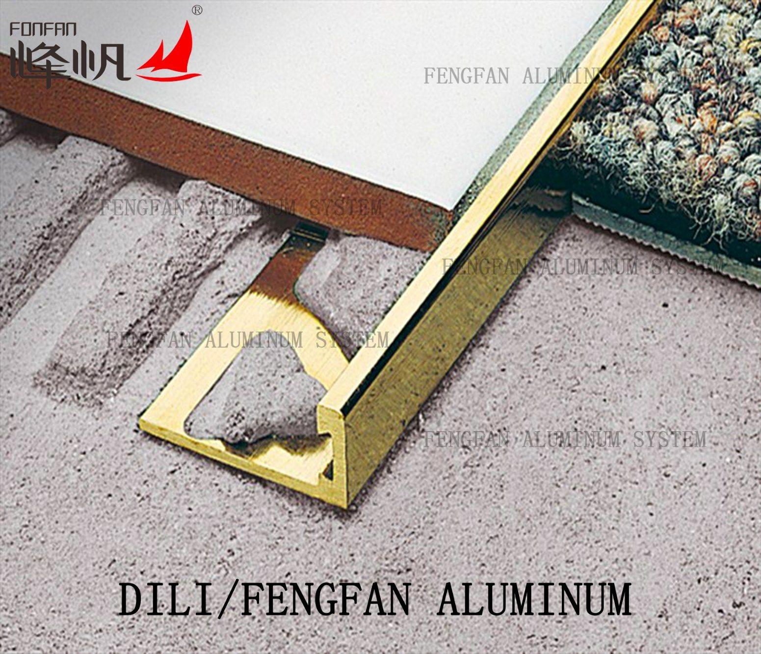 Straight Edge Aluminum Tile Trim for Ceramic Tile