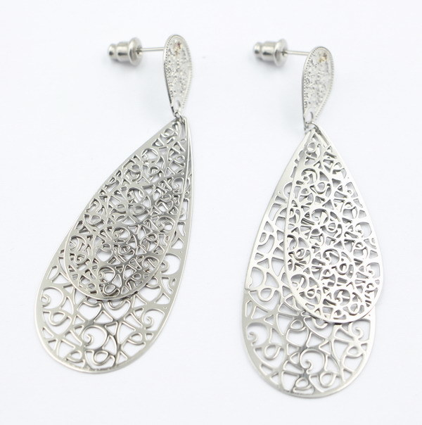 Multi-Layer Stainless Steel Fashion Earrings for Gift Jewelry
