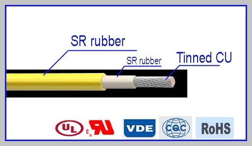 Heat Resistant Silicone Rubber Electric Wire